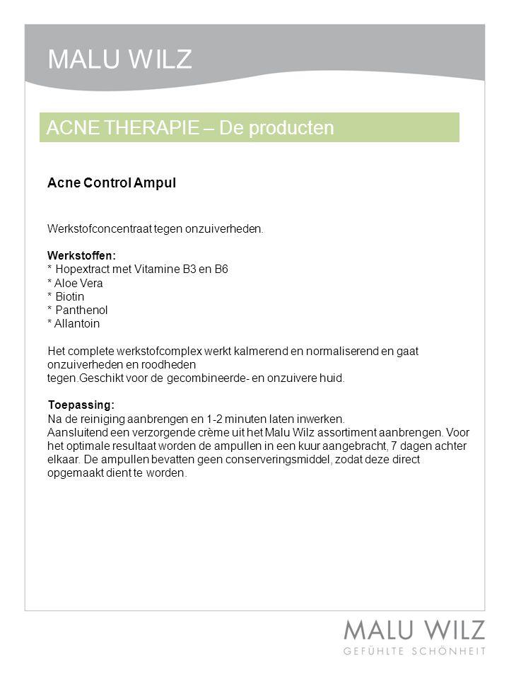 MALU WILZ ACNE THERAPIE – De producten Acne Control Ampul