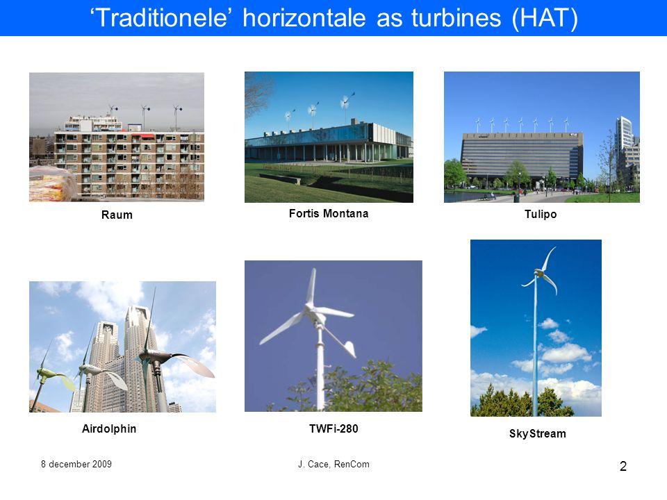'Traditionele' horizontale as turbines (HAT)