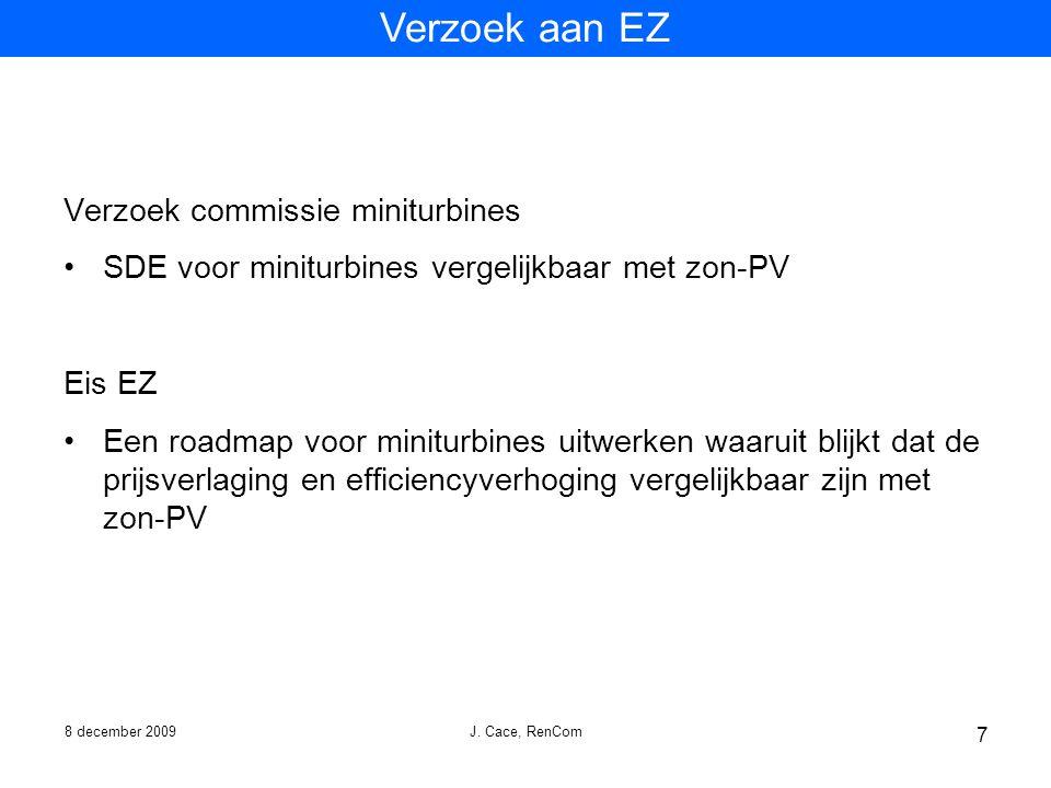 Verzoek aan EZ Verzoek commissie miniturbines