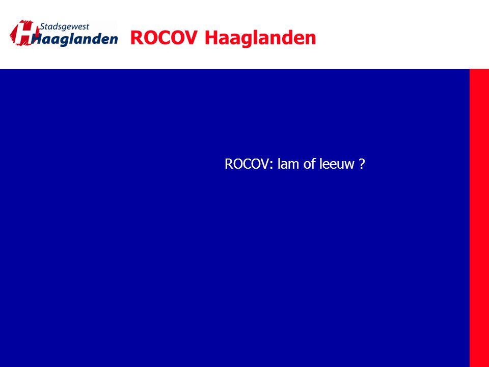 ROCOV Haaglanden ROCOV: lam of leeuw