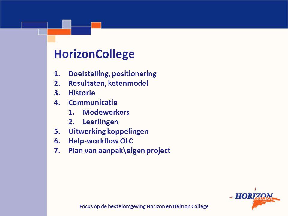 Focus op de bestelomgeving Horizon en Deltion College