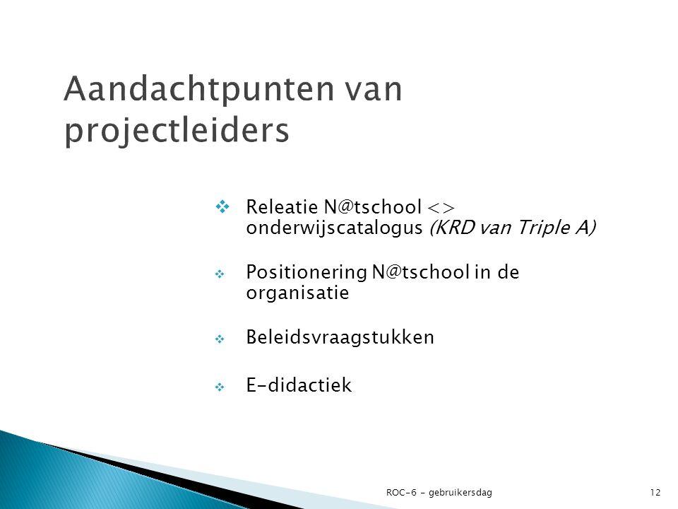 Aandachtpunten van projectleiders