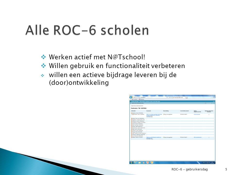 Alle ROC-6 scholen Werken actief met N@Tschool!