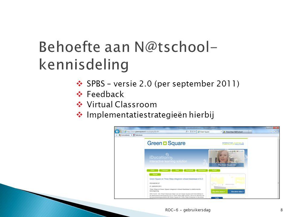 Behoefte aan N@tschool-kennisdeling