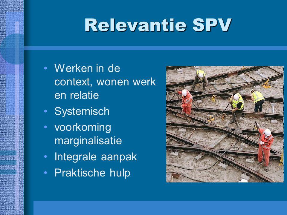 Relevantie SPV Werken in de context, wonen werk en relatie Systemisch