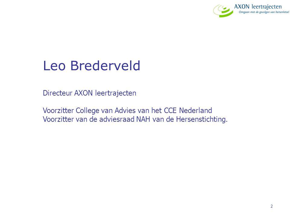Leo Brederveld Directeur AXON leertrajecten