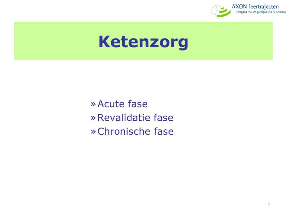 Ketenzorg Acute fase Revalidatie fase Chronische fase