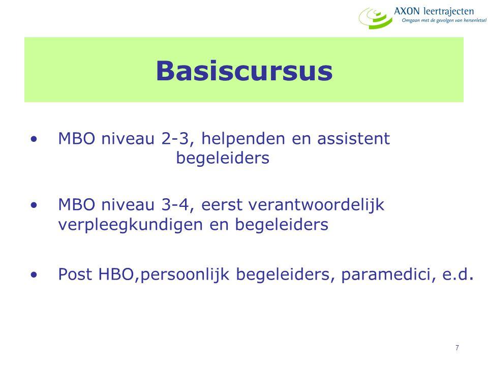 Basiscursus MBO niveau 2-3, helpenden en assistent begeleiders