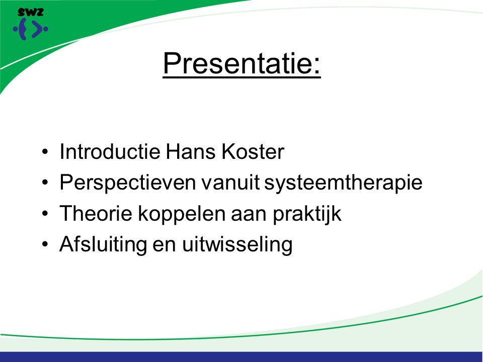 Presentatie: Introductie Hans Koster
