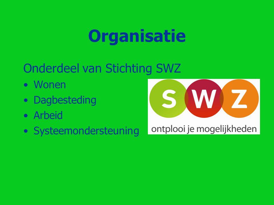 Organisatie Onderdeel van Stichting SWZ Wonen Dagbesteding Arbeid
