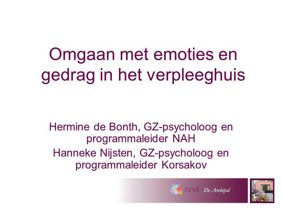 Omgaan met emoties en gedrag in het verpleeghuis