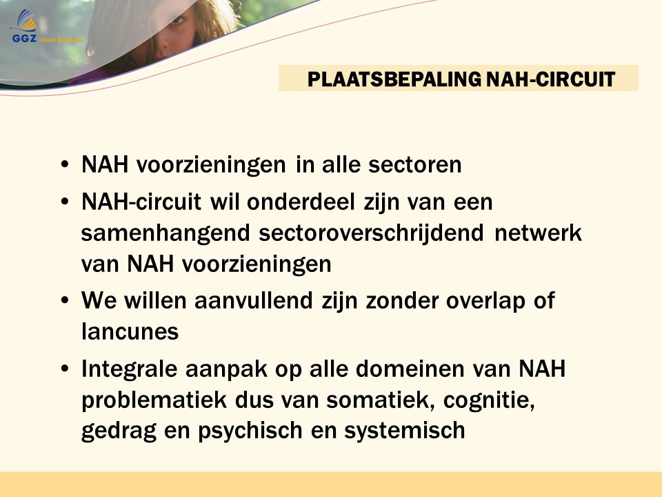 PLAATSBEPALING NAH-CIRCUIT