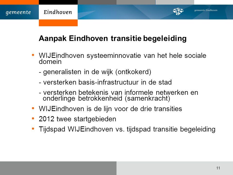 Aanpak Eindhoven transitie begeleiding