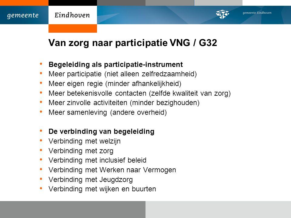 Van zorg naar participatie VNG / G32