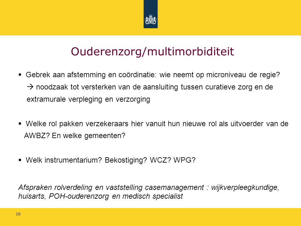 Ouderenzorg/multimorbiditeit