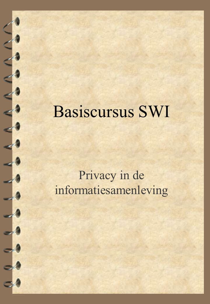 Privacy in de informatiesamenleving