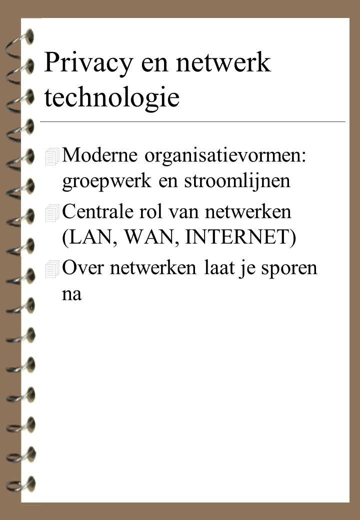 Privacy en netwerk technologie