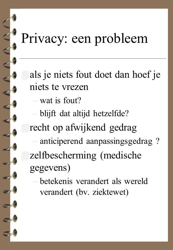 Privacy: een probleem als je niets fout doet dan hoef je niets te vrezen. wat is fout blijft dat altijd hetzelfde