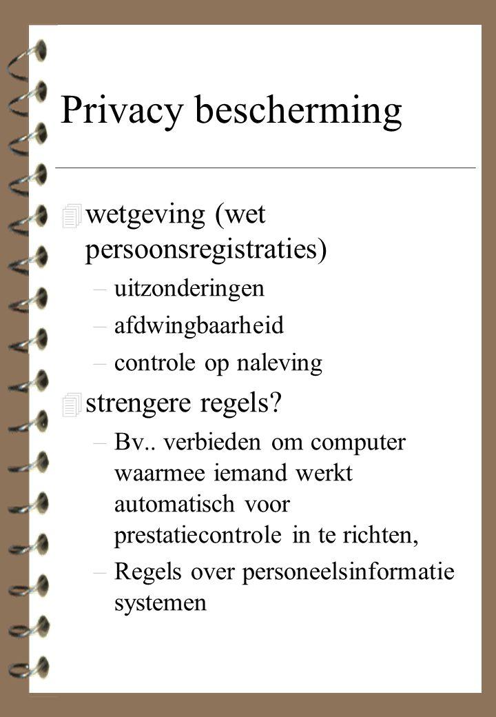 Privacy bescherming wetgeving (wet persoonsregistraties)