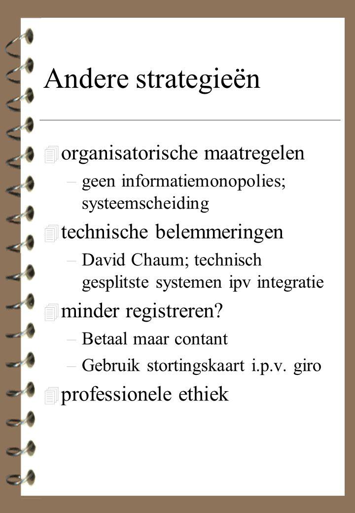 Andere strategieën organisatorische maatregelen