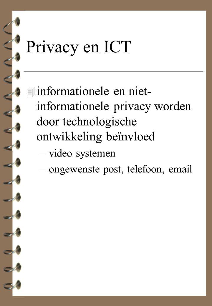 Privacy en ICT informationele en niet-informationele privacy worden door technologische ontwikkeling beïnvloed.