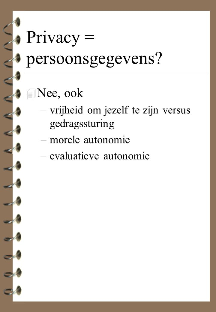 Privacy = persoonsgegevens
