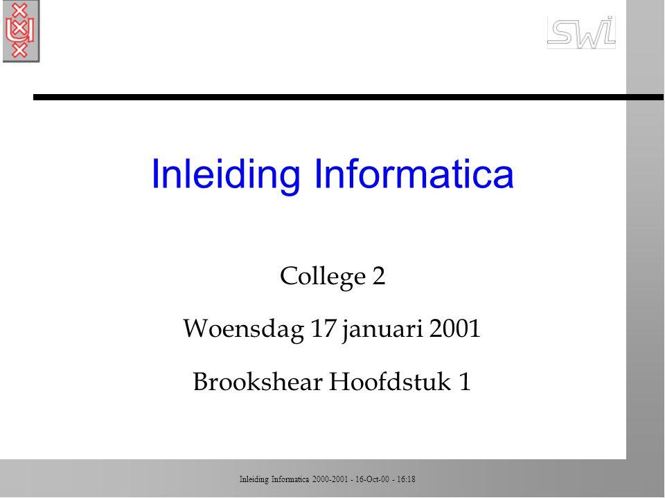 Inleiding Informatica