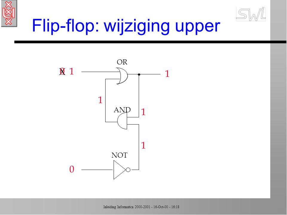 Flip-flop: wijziging upper