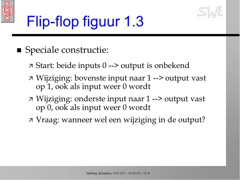 Flip-flop figuur 1.3 Speciale constructie: