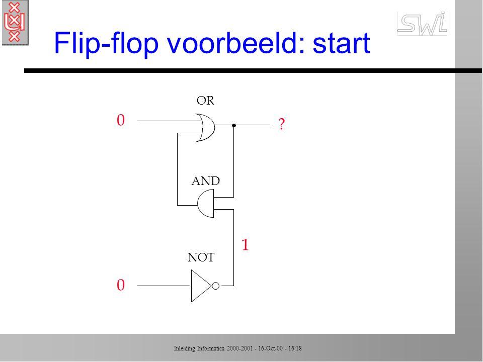Flip-flop voorbeeld: start