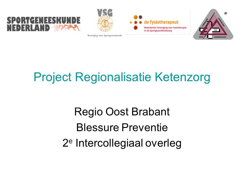 Project Regionalisatie Ketenzorg