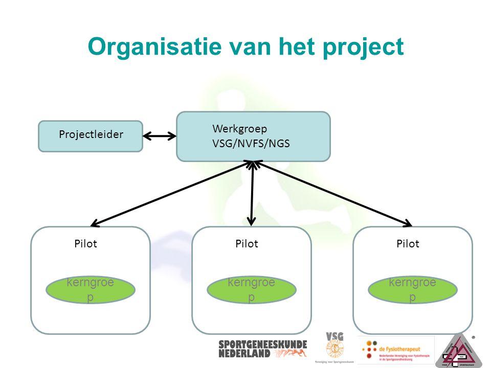 Organisatie van het project