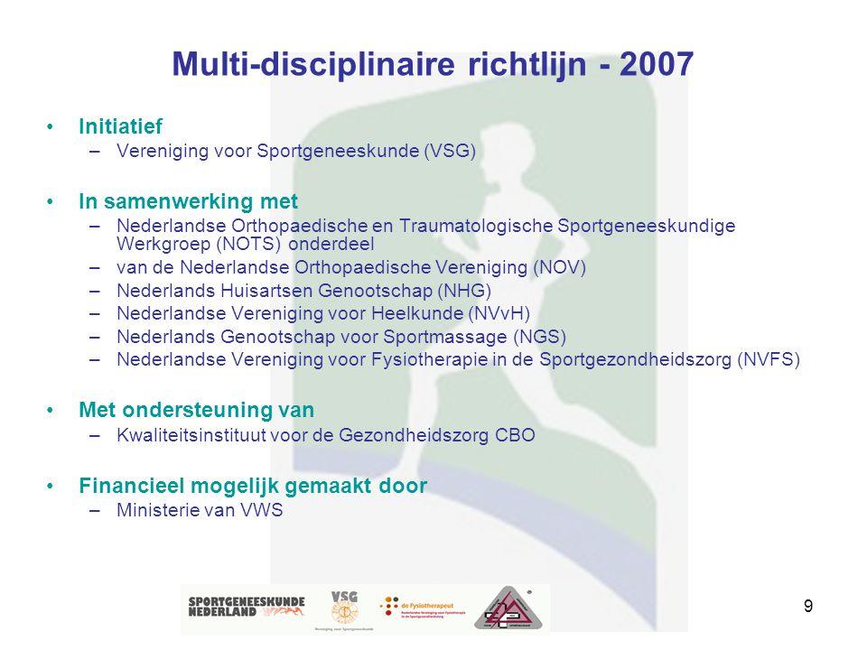 Multi-disciplinaire richtlijn - 2007