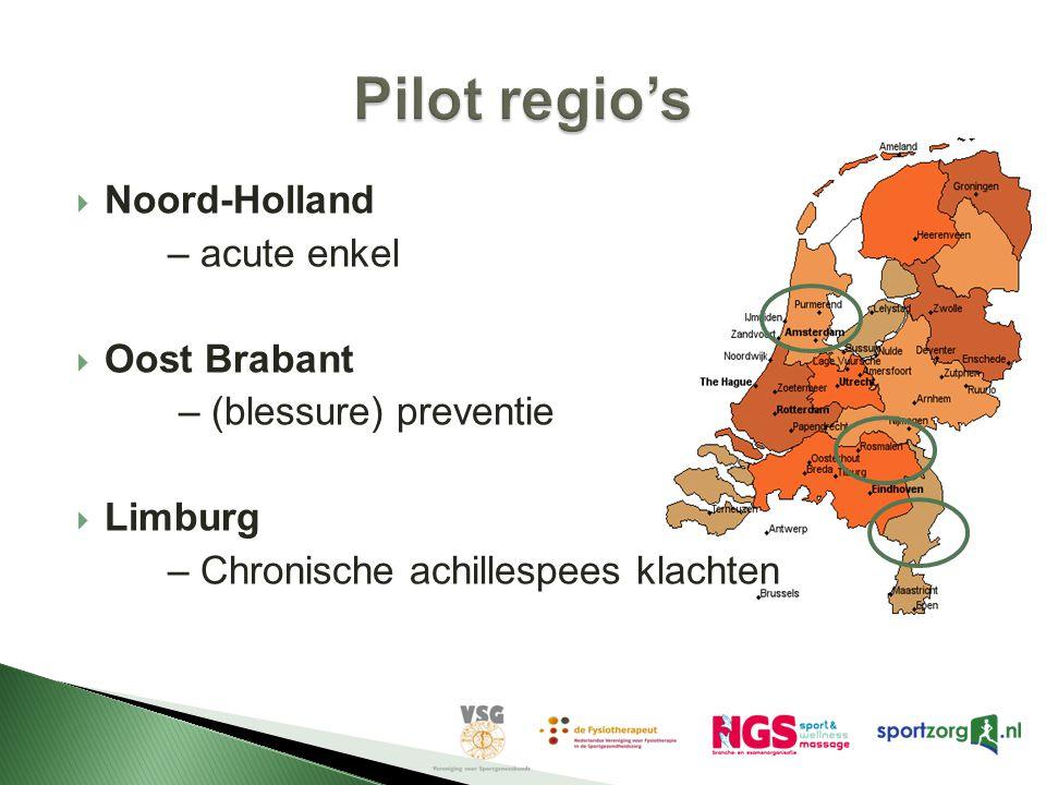 Pilot regio's Noord-Holland – acute enkel Oost Brabant