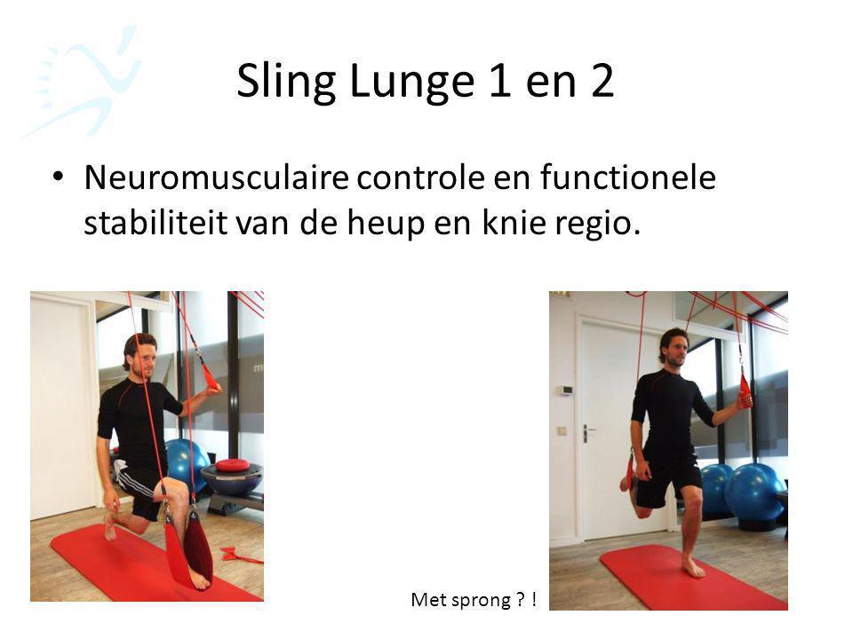 Sling Lunge 1 en 2 Neuromusculaire controle en functionele stabiliteit van de heup en knie regio.