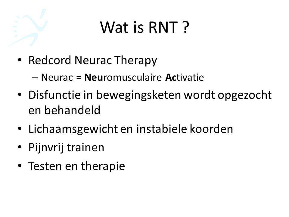 Wat is RNT Redcord Neurac Therapy
