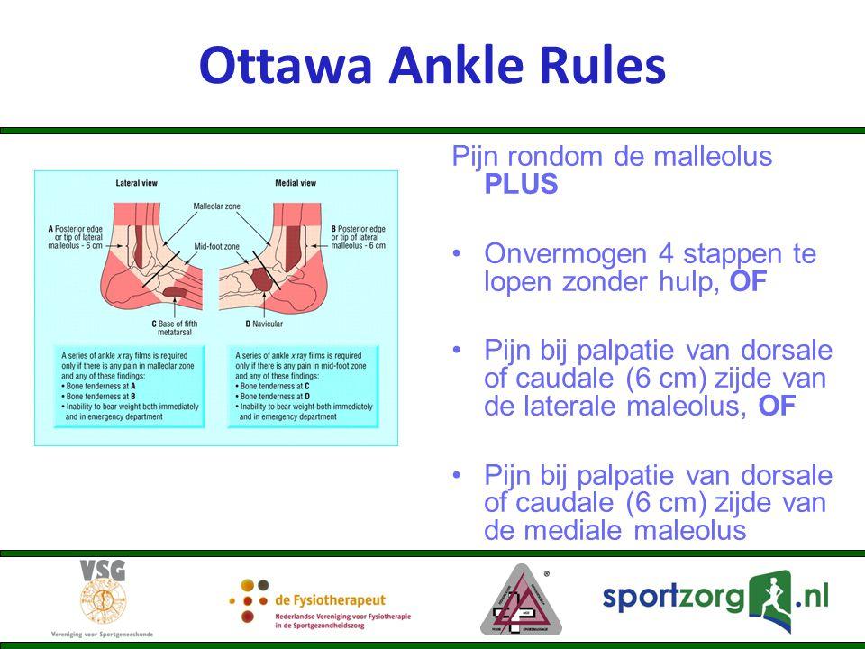 Ottawa Ankle Rules Pijn rondom de malleolus PLUS