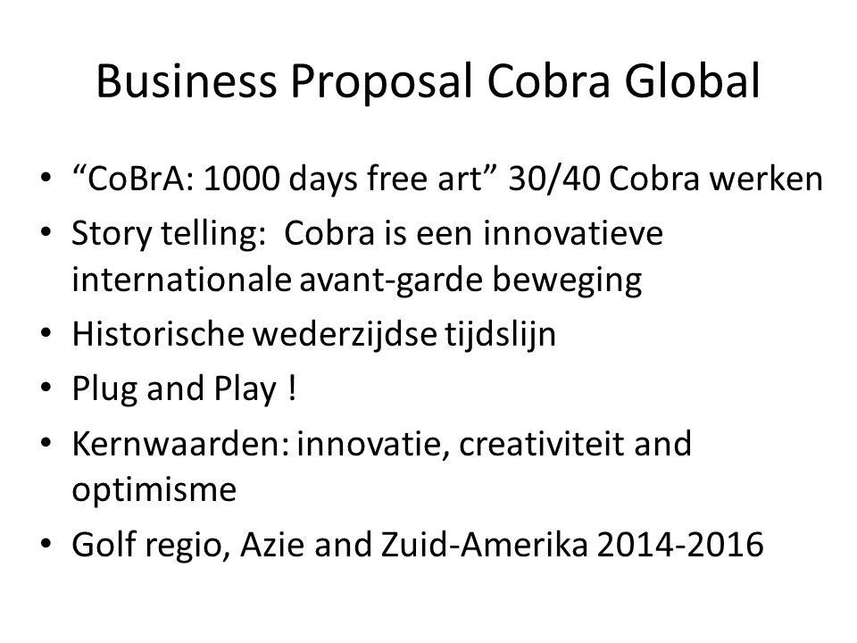 Business Proposal Cobra Global