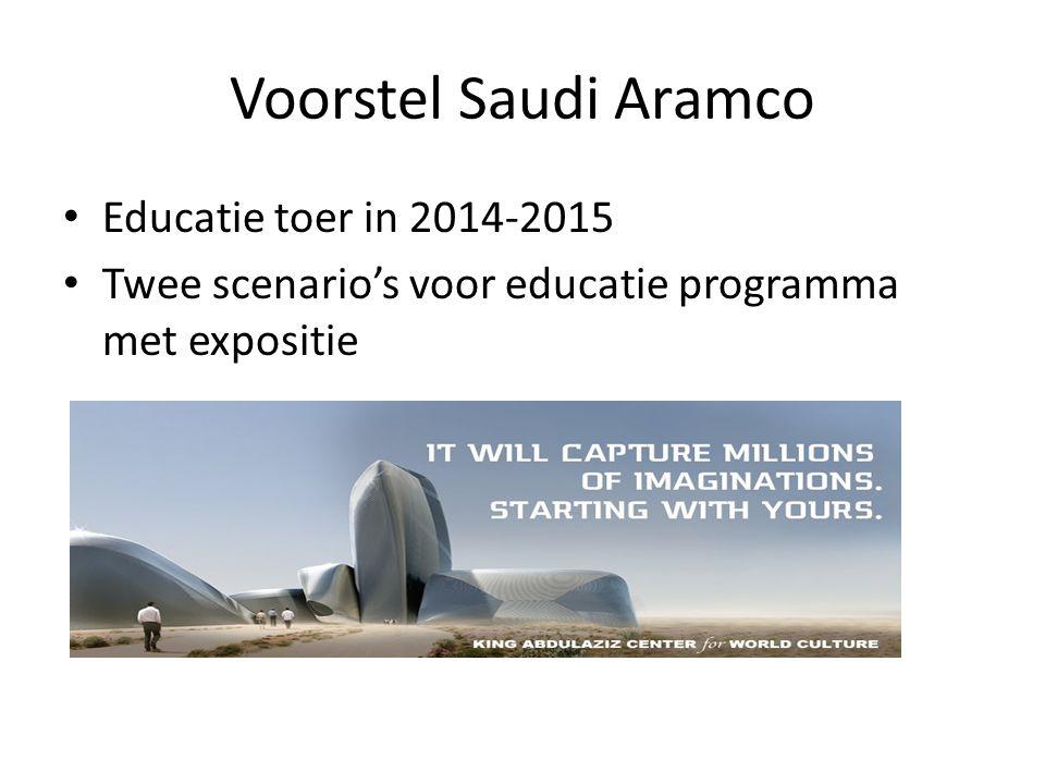 Voorstel Saudi Aramco Educatie toer in 2014-2015