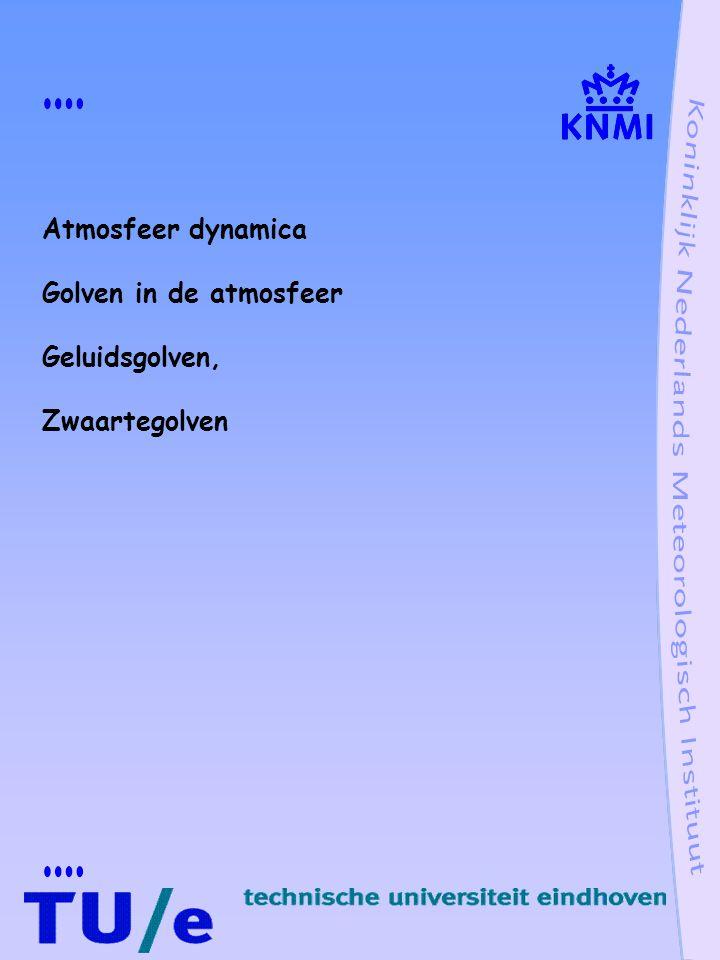 Atmosfeer dynamica Golven in de atmosfeer Geluidsgolven, Zwaartegolven