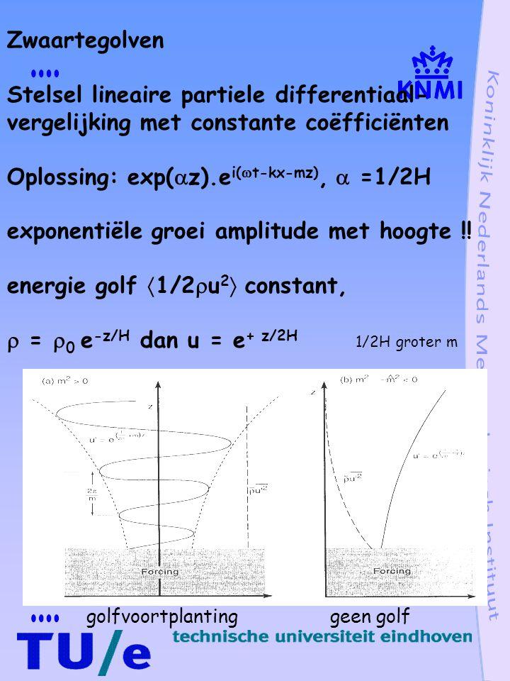 Oplossing: exp(z).ei(t-kx-mz),  =1/2H