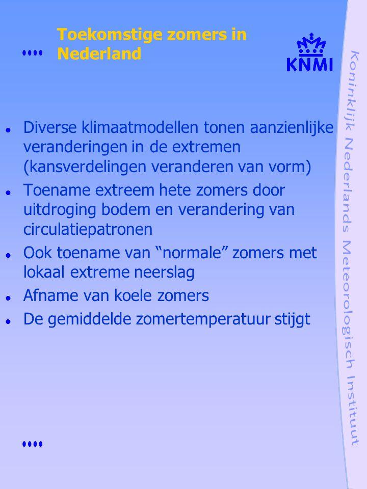 Toekomstige zomers in Nederland