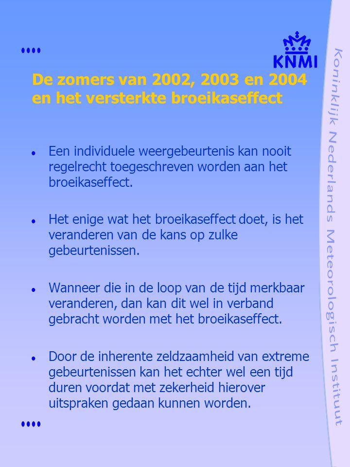 De zomers van 2002, 2003 en 2004 en het versterkte broeikaseffect