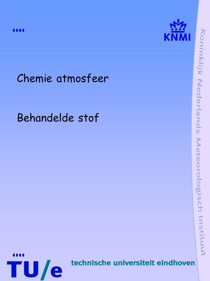 Chemie atmosfeer Behandelde stof