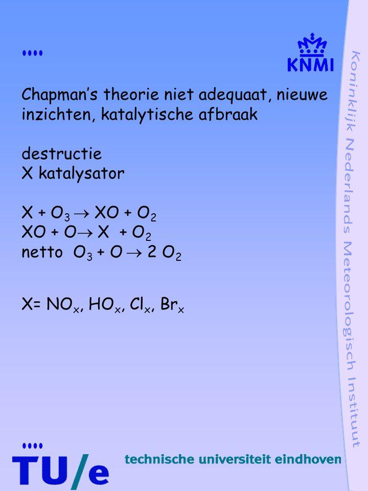 Chapman's theorie niet adequaat, nieuwe inzichten, katalytische afbraak