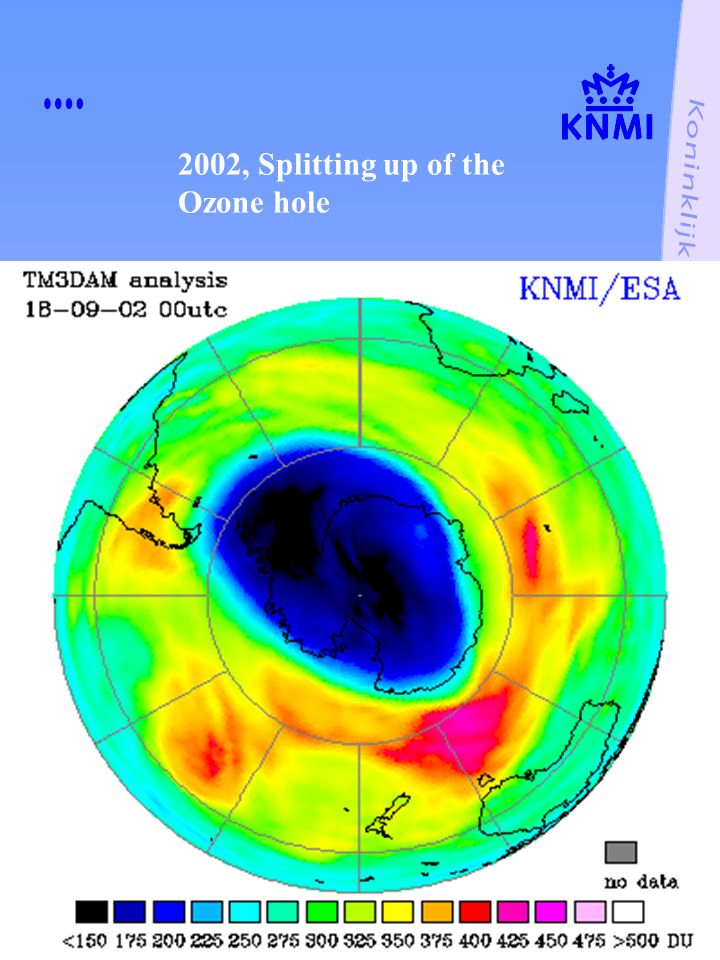 2002, Splitting up of the Ozone hole