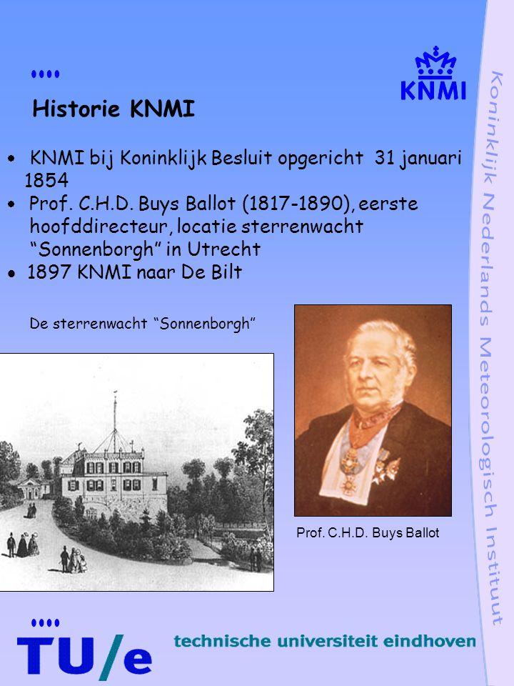 Historie KNMI 1854 Sonnenborgh in Utrecht 1897 KNMI naar De Bilt