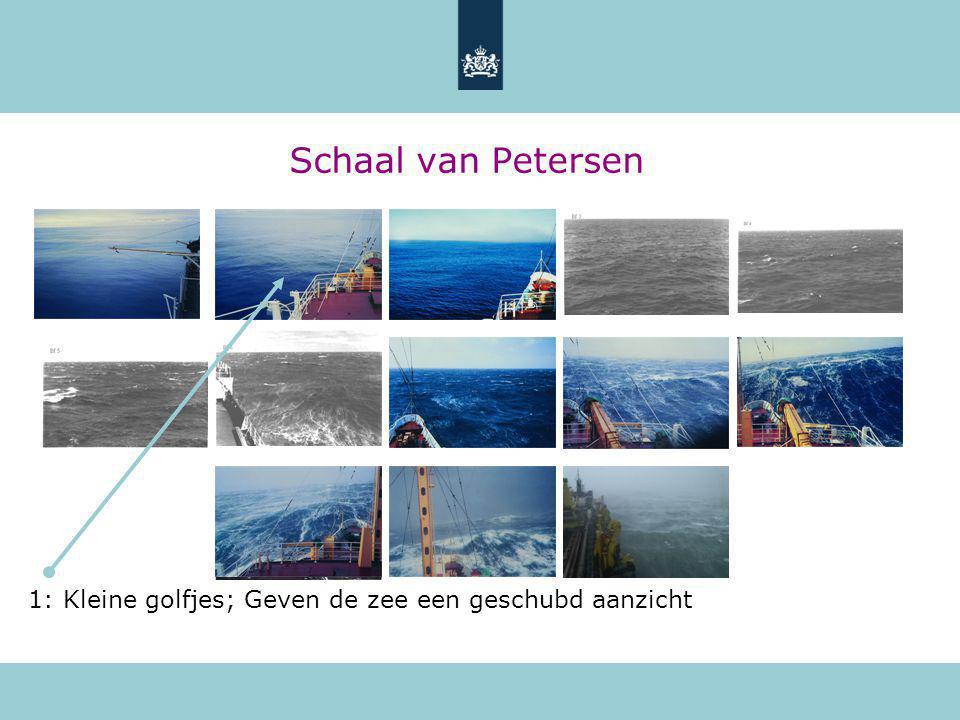Schaal van Petersen 1: Kleine golfjes; Geven de zee een geschubd aanzicht