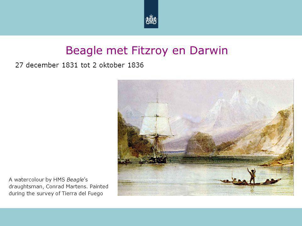 Beagle met Fitzroy en Darwin