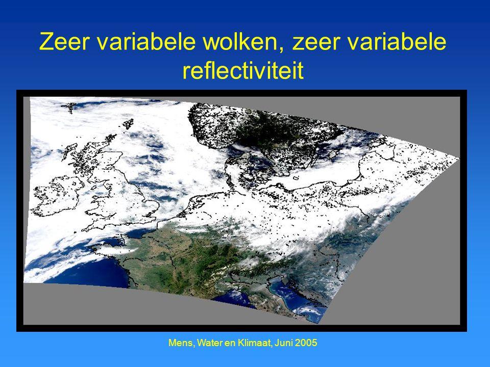 Zeer variabele wolken, zeer variabele reflectiviteit